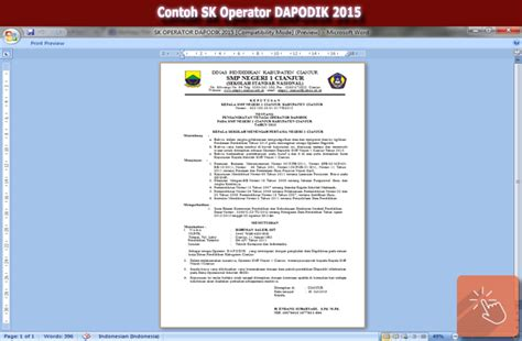 contoh sk operator dapodik 2015 file wikiedukasi