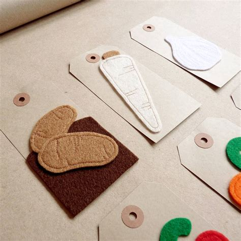 Handmade Felt Gifts - handmade felt vegetable gift tags by be darcey
