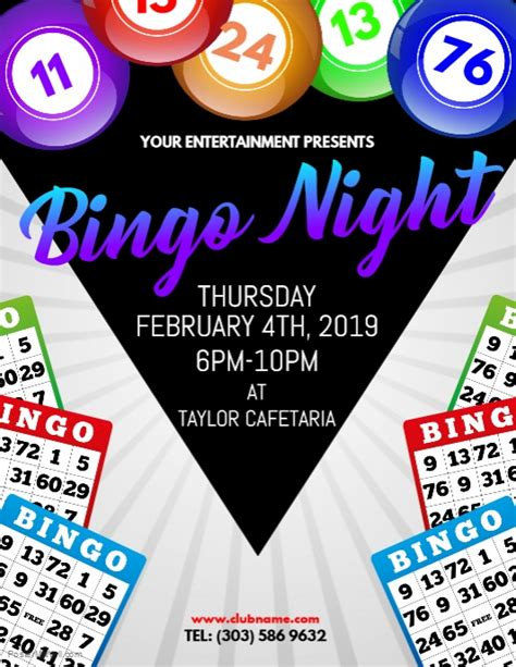 bingo night flyer template postermywall