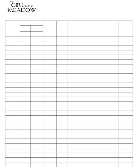film log sheet free download