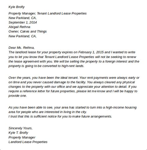 sample bed bug notification letter for tenants lawyers committee