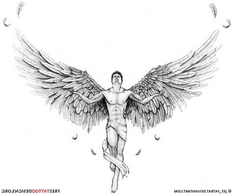 male angel tattoo designs designs elaxsir