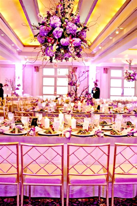 pink and purple wedding 24 pink and purple hanging wedding decor ideas weddingomania