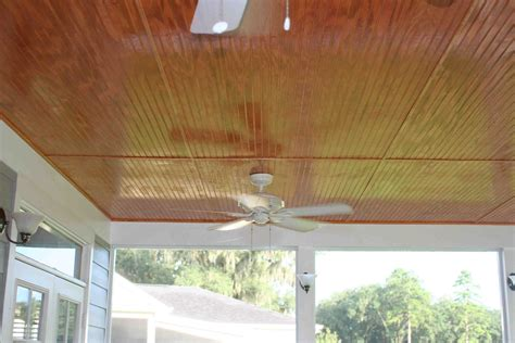 stained beadboard porch ceiling screened porch addition tallahassee
