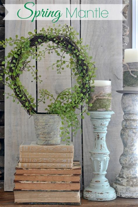 winter mantel decorating ideas setting for four 13 stylish spring mantel decorating ideas page 2 of 2