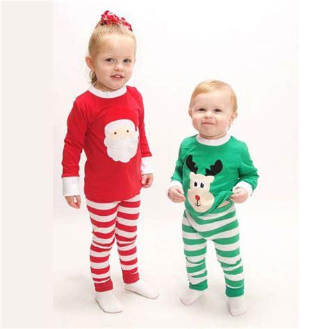 christmas santa moose brother sister boys girls matching striped pajamas set matching santa