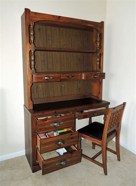 young hinkle ship ahoy desk young hinkle quot ship ahoy quot wood desk with bookcase hutch ebth