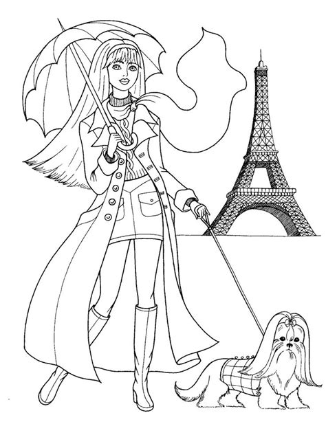 Fashion Coloring Pages Fashionable Girls Picture Fashionable Coloring Pages 2