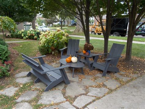 recycled outdoor furniture the michigan landscape