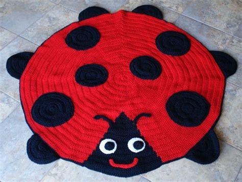 Ladybug Rug by Crochet Animal Rugs The Whoot