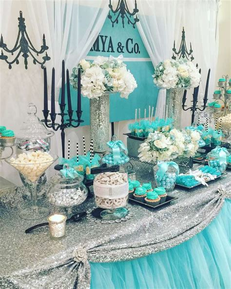 tiffany themed events tiffany co baby shower party ideas photo 1 of 8
