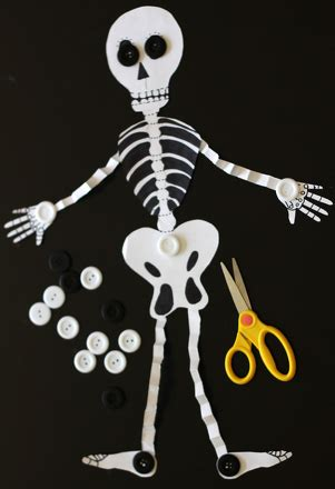How To Make A Paper Skeleton - make an accordion skeleton activity education