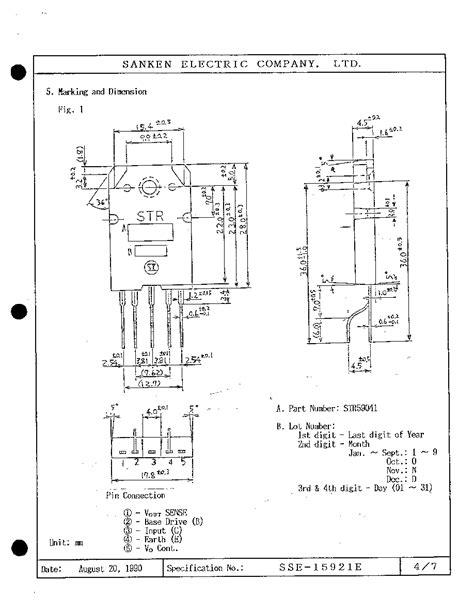 sanken transistor cross reference str59041 sanken sanken electric company ltd html datasheet
