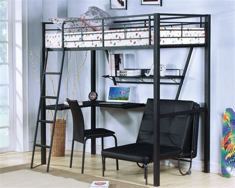 Loft Bed With Desk And Chair by Acme Furniture Senon Desk With Folding Bed And Chair