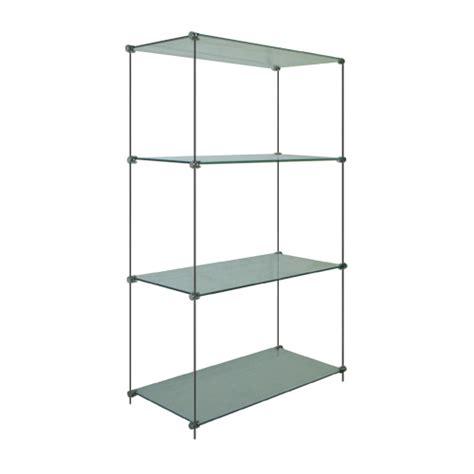 estuff glass wood shelves free standing