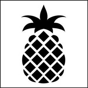 pineapple silhouette stencils pineapple design and stencil patterns on