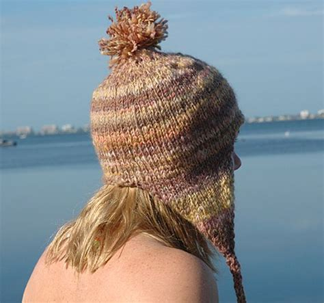 pattern knitting hat ear flaps bulky hat with ear flaps knitting pattern stitch knit