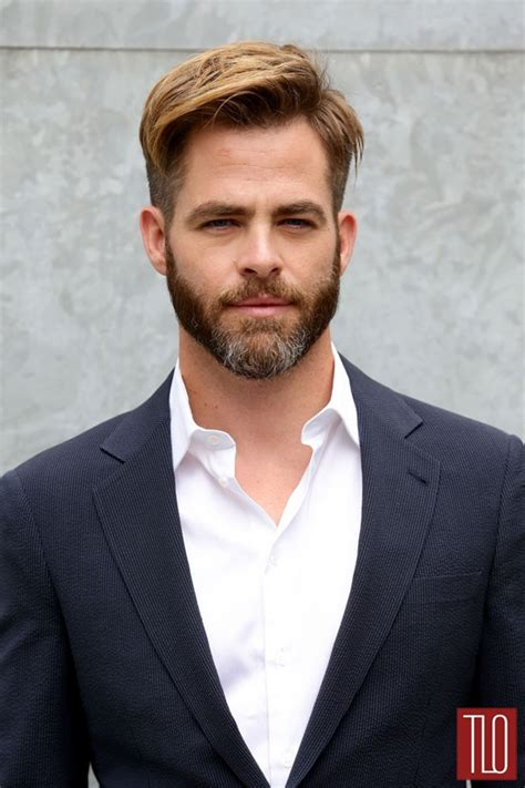 armani haircut chris pine at the giorgio armani spring 2015 fashion show