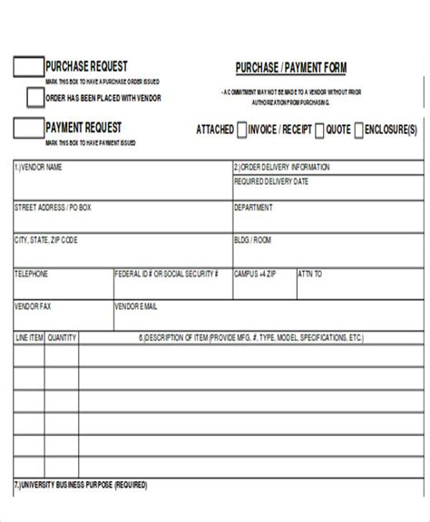payment form template sle payment request form 12 exles in word pdf