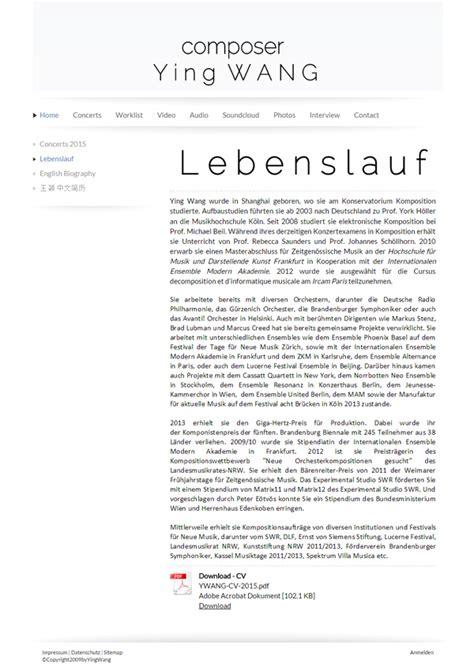 Lebenslauf Vorlage Zurich Cv Website Erstellen Bewerbungshomepage Lebenslauf Jimdo