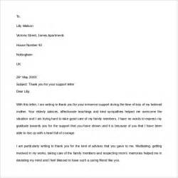 Thank You Letter For Your Assistance Sle Thank You For Your Support Letter 9 Free Documents In Pdf Word