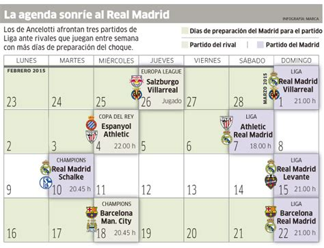 Calendario De Juegos Real Madrid Gui 241 O Calendario Al Madrid Marca