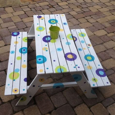 cool painted picnic tables the 25 best picnic table paint ideas on