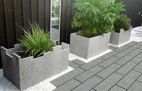 Paving Planters by Fairstone Eclipse Granite Garden Paving