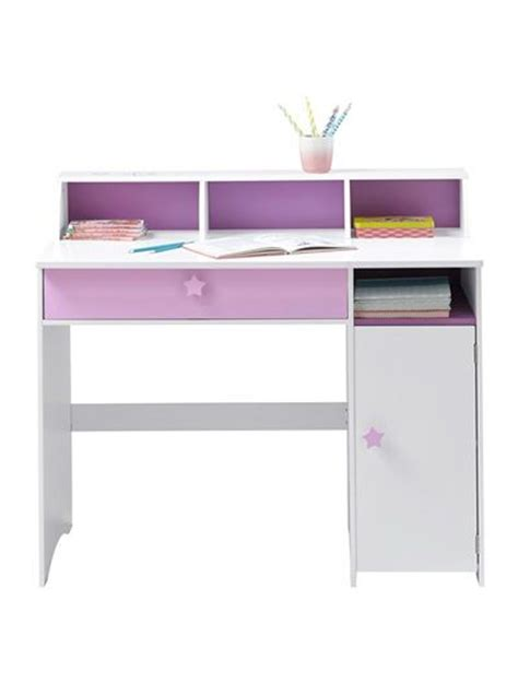 theme bureau grand bureau fille blanc th 232 me f 233 e blanc violet