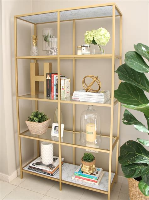 bookshelf decor simple details ikea vittsjo shelving unit