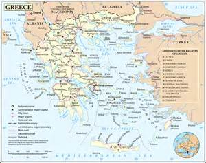 large detailed political and administrative map of greece