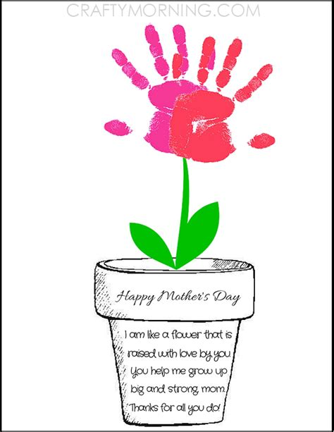 mothers day handprint crafts find craft ideas