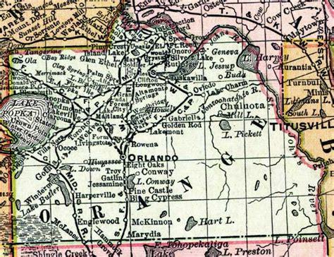 map orange county florida map of orange county florida 1898