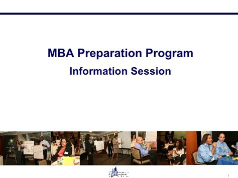 Mba Preparation Syllabus by 2009 Mbap Overview