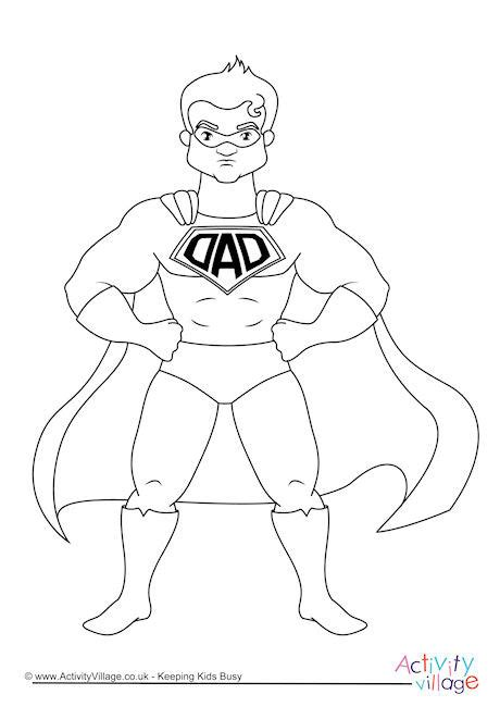 superhero dad coloring page super hero dad coloring pages www pixshark com images