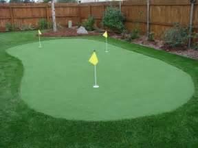 a putting green in backyard golf putting and chipping greens four seasons landscaping