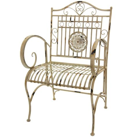 oriental furniture rustic wrought iron garden chair