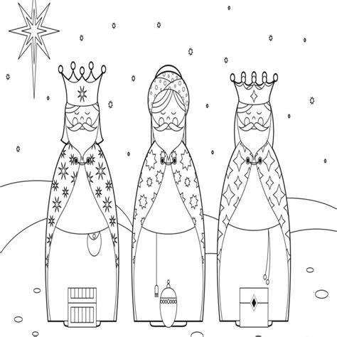 imagenes reyes magos para niños dibujos de reyes magos para colorear 1 dibujosparacolorear