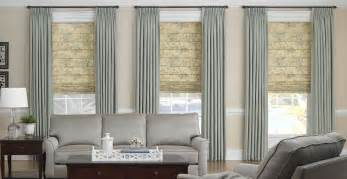 Living Room Curtain And Blind Ideas 3 Day Blinds Offers Soft Shades With Drapery Panels