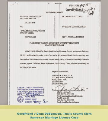 Tx Marriage License Records Tex App Goodfriend V Travis County Clerk Documents
