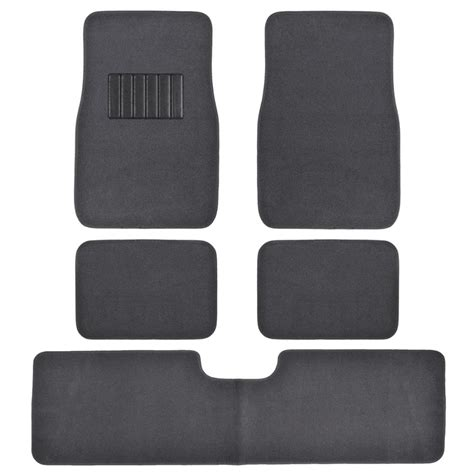 Rug Floor Mats by 5pc Set Plush Carpet Passenger Auto Floor Mats Front
