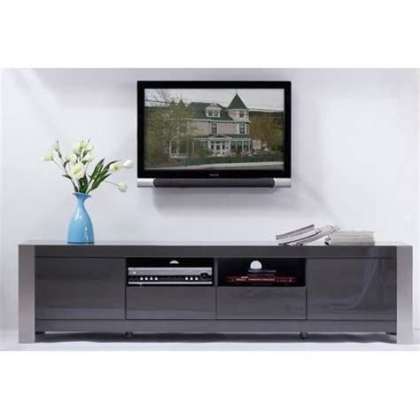 Gray Media Cabinet by Composer Gray Media Stand B Modern Media Storage Cabinets