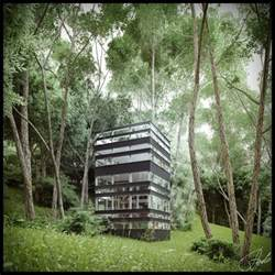 Forest House by Japanese House In The Forest Visualized