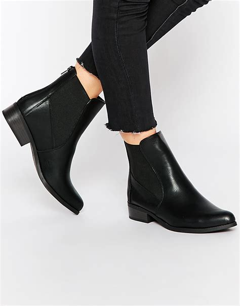 new look flat boots at asos