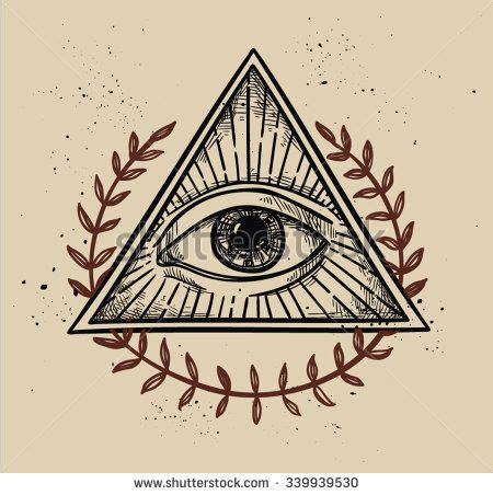 pyramid eye tattoo vector illustration all seeing eye pyramid