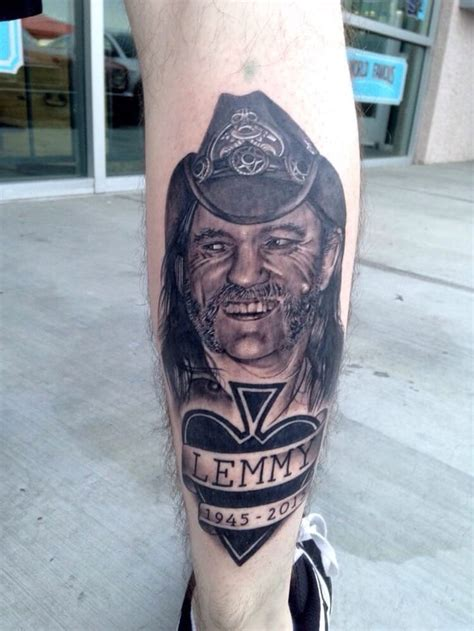 motorhead tattoo lemmy kilmister mot 246 rhead fan