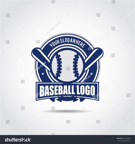 baseball logo template vector illustrator eps10 stock