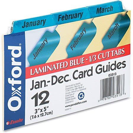 oxford index card tab template 1 5 oxford laminated index card guides monthly 1 3 tab