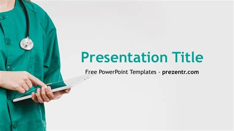 Free Nurse Powerpoint Template Prezentr Ppt Templates Nursing Powerpoint Templates