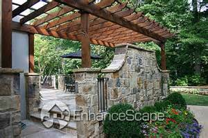 Pergola With Walls by Pergola With Stone Wall Doors Amp Gates Pinterest